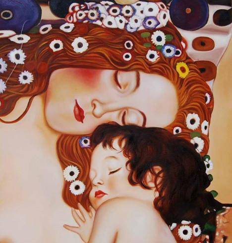 Klimt-mother and child